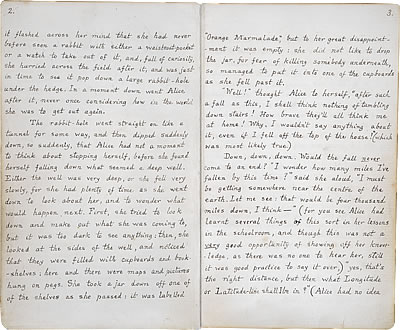 Image of Lewis Carroll's Alice's Adventures Under Ground - Pages 2 and 3