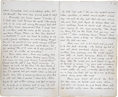 Image of Lewis Carroll's Alice's Adventures Under Ground - Pages 4 and 5