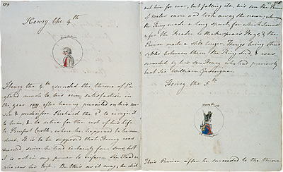 Image of Jane Austen's The History of England - Pages 3 and 4
