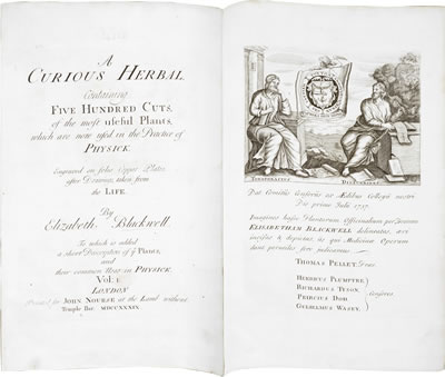 Virtual books: images only - Blackwell's Herbal: Title page.