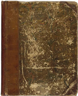 Image of the front cover of William Blake's notebook
