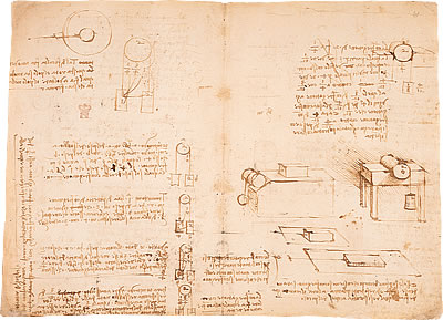 Image of Leonardo's Notebook - Pages 1 and 2