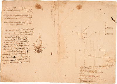 Image of Leonardo's Notebook - Pages 27 and 28