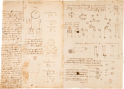 Image of Leonardo's Notebook - Pages 3 and 4