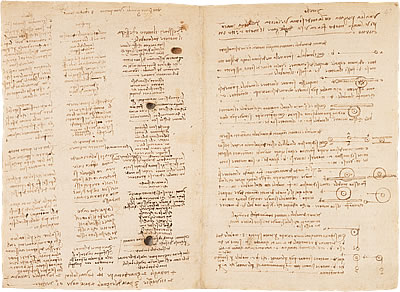 Image of Leonardo's Notebook - Pages 5 and 6