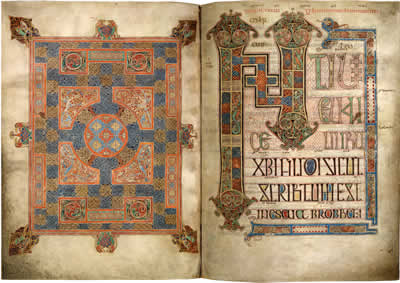 Virtual books: images only - Lindisfarne Gospels: St Mark  ff. 94v - 95