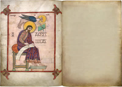Virtual books: images only - Lindisfarne Gospels: St Luke  f. 137v
