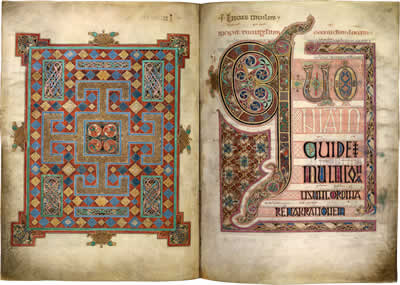 Virtual books: images only - Lindisfarne Gospels: St Luke  ff. 138v - 139