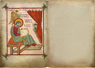 Virtual books: images only - Lindisfarne Gospels: St Matthew