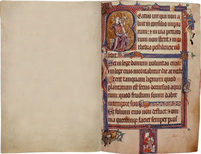 Image of The Luttrell Psalter - Pages 3 and 4