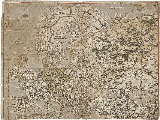 Image of The Mercator Atlast of Europe - Pages 3 and 4