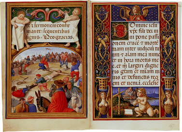 Image of The Sforza Hours - pages 11 and 12