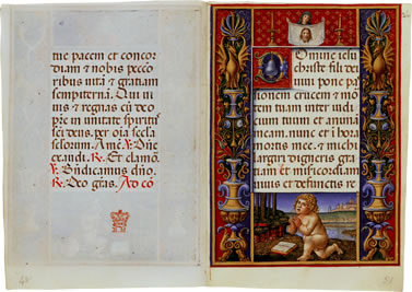 Image of The Sforza Hours - pages 13 and 14