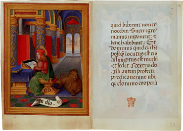 Image of The Sforza Hours - pages 9 and 10