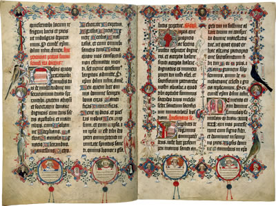 Image of the Sherborne Missal - Pages 27 and 28