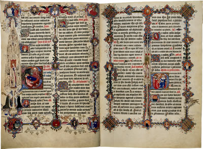 Image of the Sherborne Missal - Pages 3 and 4