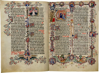 Image of the Sherborne Missal - Pages 5 and 6