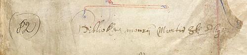 Detail: Ownership inscription