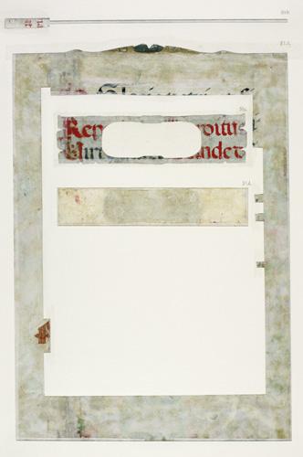 Verso of border
