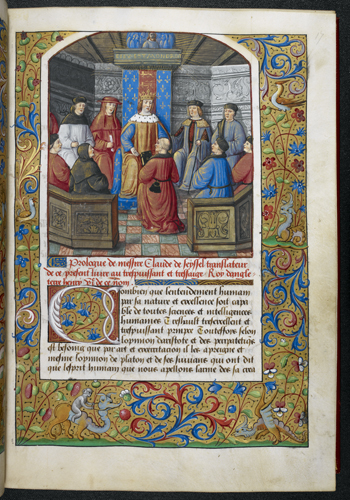 Henry VII receiving the book