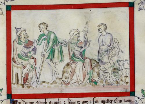 Esau, Isaac, Jacob, and Rebecca