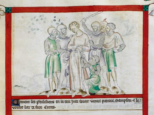 Philistines capturing Samson