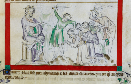 Saul killing Abimlech