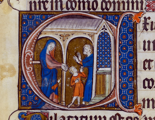 Historiated initial.