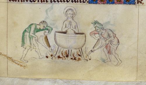 Margaret in cauldron