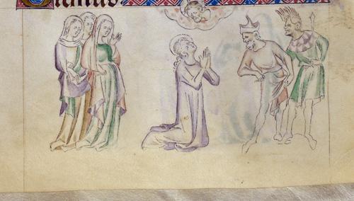 Margaret in prayer