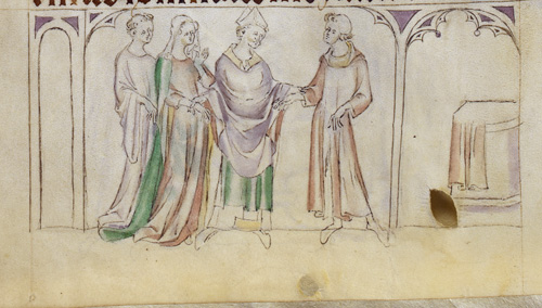 Marriage of Thomas's parents