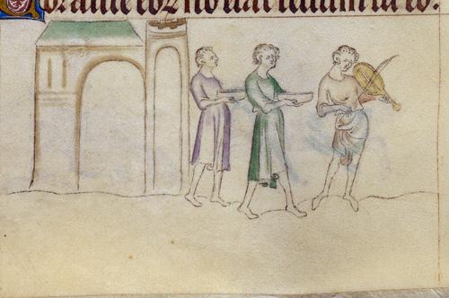 Servants and fiddler