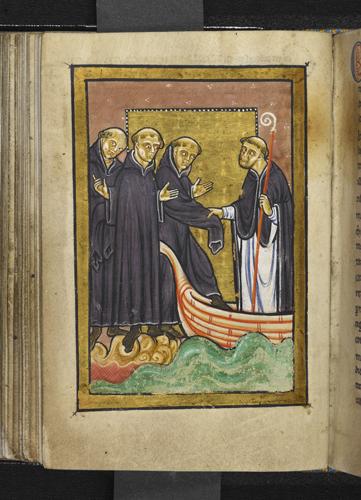 Cuthbert healing a monk