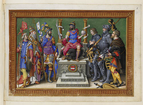 Charles V enthroned among his enemies