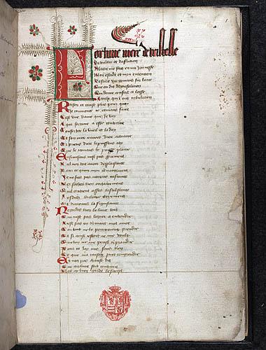 MS Egerton 2633 f.1