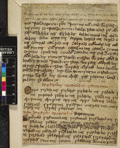 Anglo-Saxon genealogy