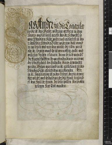 Calligraphic initials