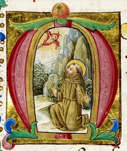 Francis receiving the stigmata