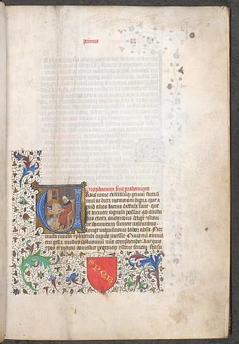 Historiated initial of Valerius Maximus(?)