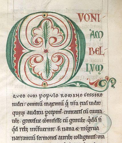 Detail: Arabesque initial