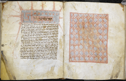 Carpet page and initial-word panel
