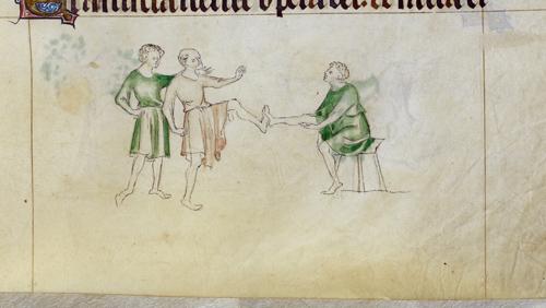 Three men playing