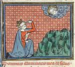 Detail: David kneels before God