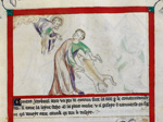 Detail of an upper register miniature of God commanding ...