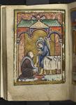 Cuthbert washing an angel's feet