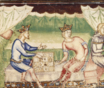 Kings playing a game