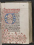 Flourished initial and border