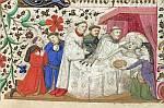 Priest administering last rites