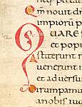 Coloured initial