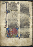 King Arthur setting infants adrift in a boat